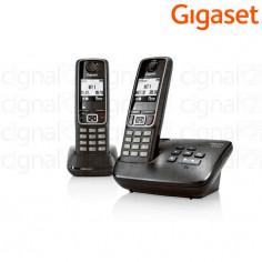 Teléfono inalámbrico Gigaset A420A Duo con contestador