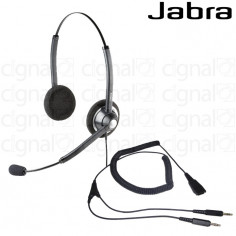 Headset Biaural Jabra Biz 1900 QD 3.5mm