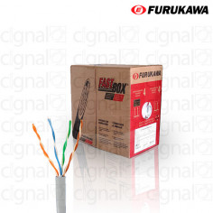 Bobina de Cable Furukawa UTP Cat. 6 interno Gris