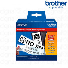 Cinta continua papel blanca Brother DK-2243 102mm
