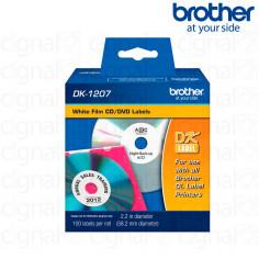 Cinta Brother DK-1207 Precortada 5.8 x 5.8 cm. x 100u.