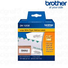 Cinta Brother DK-1208 Precortada 3.8 x 9.0 cm. x 400u.