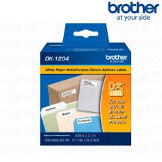 Cinta Brother DK-1204 Precortada 1.7 x 5.4 cm. x 400u.