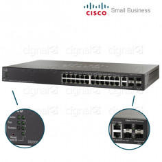 Switch Cisco SG500-28 Small Business 28 Puertos