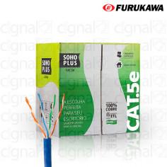 Bobina de Cable SOHO Furukawa UTP Cat. 5e Externo Azul