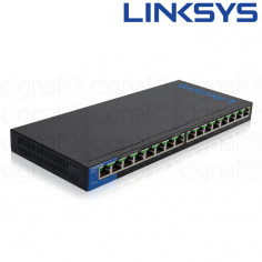 Switch Linksys LGS116P SMB 16 Puertos 10/100/1000 POE+