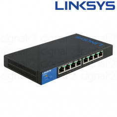 Switch Linksys LGS308P SMB 8 Puertos 10/100/1000 POE+