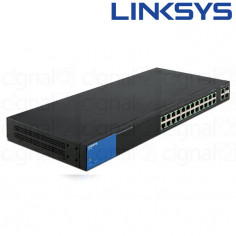 Switch Linksys LGS326P SMB 26 Puertos 10/100/1000 POE+