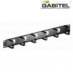 """Organizador de cables Gabitel O-1US 19"""" 1U 6 anillos simple Negro"""