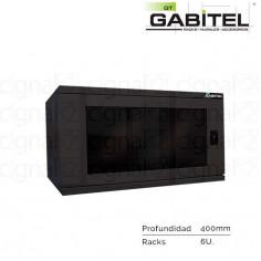 Rack Mural Gabitel M-CD-6U4N de 6U Compacto Negro