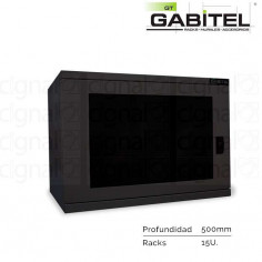 Rack Mural Gabitel M-CD-15U5N de 15U Compacto Negro