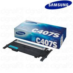 Cartucho Toner Samsung CLT-C407S Cian