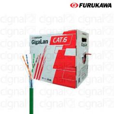 Bobina de Cable Furukawa UTP Cat. 6 Externa Verde X 305 Mts.