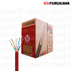 Bobina de Cable Furukawa UTP Cat. 6 interno Roja x 305 Mts.